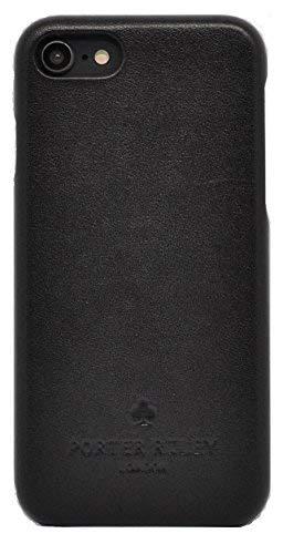 Porter Riley – Custodia per iPhone 6 / iPhone 6s. Custodia/Cover/Supporto/Ultrasottile in Vera Pelle Sottile di Prima qualità. (Nero)