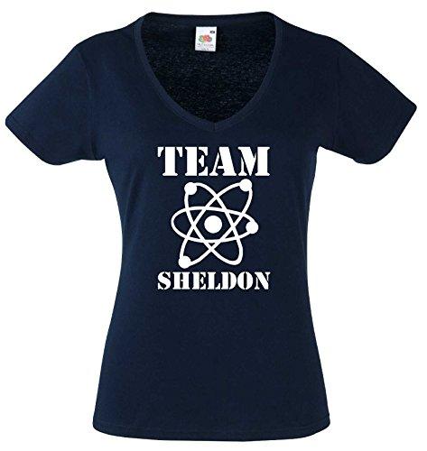 world-of-shirt Damen T-Shirt The Big Bang Theory Knock.Penny