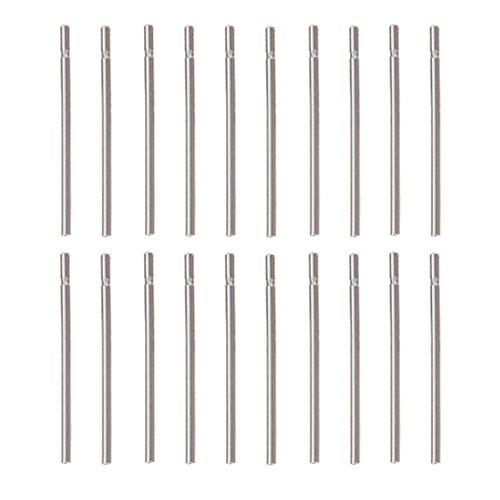 F Fityle 10 Pares de Pendientes Simples de Plata de Ley 925 - tal como se describe, 0,75 mm
