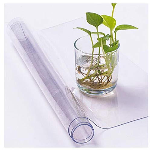 ZHPNG Crystal transparant PVC tafelkleed, slijtvast antislip tafelbeschermer 200 micron dik plastic tafelkleed