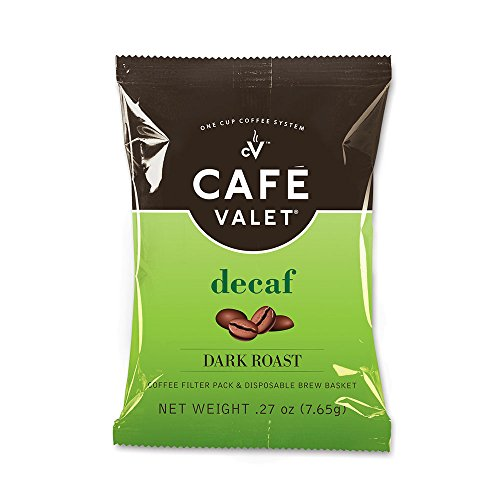 Café Valet One Cup Coffee Maker, Single Serve Coffee Brewer & Cafe Valet One Cup Coffee Filter Pack