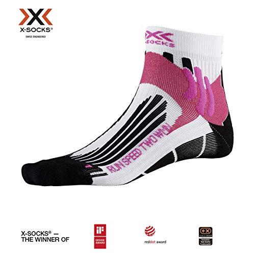 X-Socks Run Speed Two WMN Socks, Mujer, Arctic White/Opal