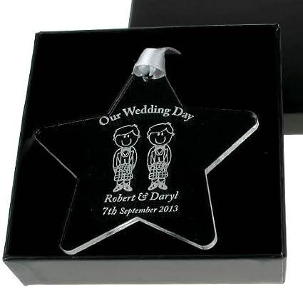 Scottish Civil Ceremony Civil Partnership Gifts Personalised Wedding Gift Ideas Amazon Co Uk Kitchen Home