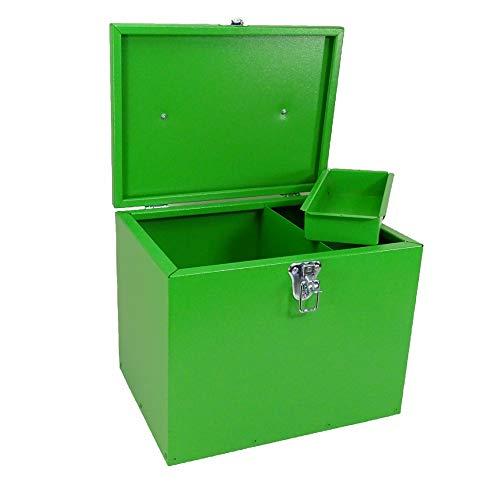 Pferde-Putzbox grün; Putzkiste für Pferde; Pferde-Putzbox; Putzkiste; Putzkasten; Alu-Putzbox, für Reiter und Ihre Pferde entwickelt - 2