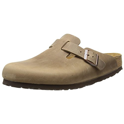 Birkenstock Boston 960813, Zoccoli unisex adulto, Marrone (Tobacco Brown), 41 (Stretta)