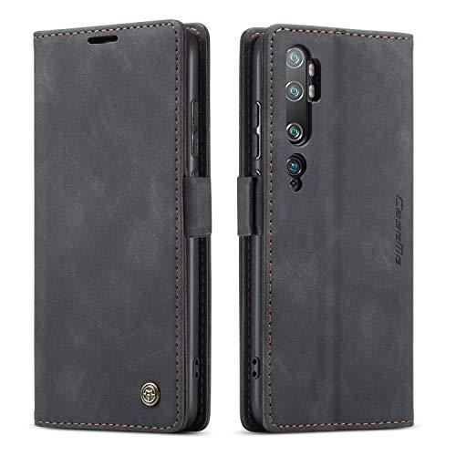 YFXP Kompatibel mit Xiaomi Mi CC9 Pro/Note 10 Lederhülle Hülle 2 Kartenschlitze mit magnetischem Verschluss Brieftasch-Stil Kartenfach Magnet Hülle