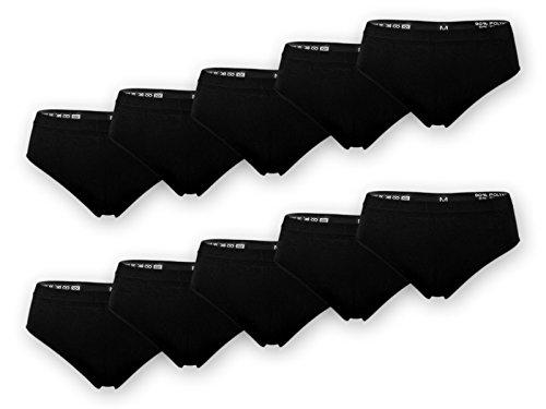 sockenkauf24 5 oder 10 Damen Slips Microfaser im bunten Farbmix, in schwarz oder Weiß (XXXL = 52/54, 10 Stück | Schwarz)