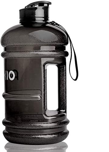 PANKIO 2.2 Litre Water Bottle, Big Water Bottle,BPA Free Drinking Bottle Gym Water Bottle, Flip Cap Sports Water bottle(Black)