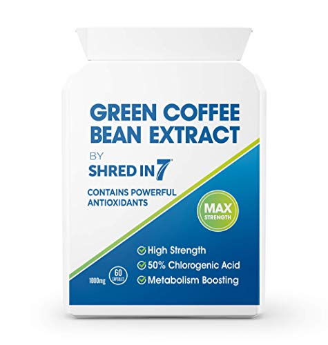 Green Coffee Bean Capsules | Natural Unroasted Coffee Caffeine Energy & Diet Pills | Premium Quality | Safe & Legal EU Formula | UK Made with Pride in Cambridge