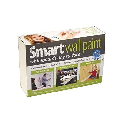 Pintura de Pizarra Smart Blanca 2m² - pizarra blanca - borrado en seco - para pared de oficina, estudio o cocina - rollo de pizarra para niños