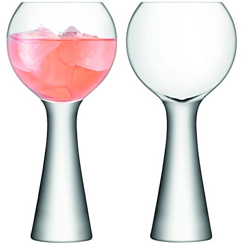 LSA International Moya Vin Ballon en Verre, Clair, 550 ML, Lot de 2