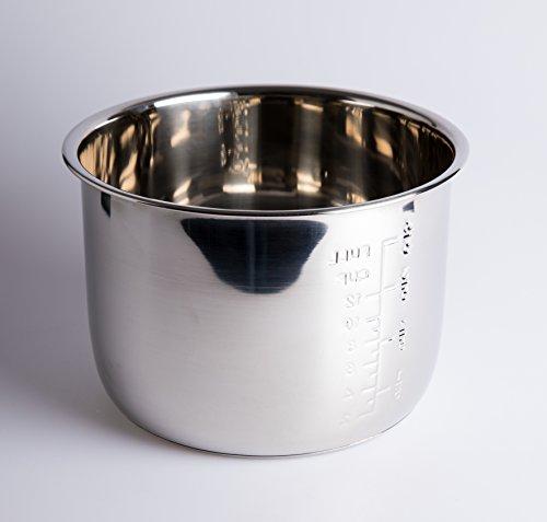 Cubeta Acero INOX para Olla programable de 6 litros. GM, Cocimix, Newcook, Erika, etc
