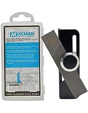 XCMAN - Angulador con sistema de sujeción para limas, para afilar cantos de tabla de snowboard freeride. Fabricado en aluminio de alta resistencia con tecnología CNC.