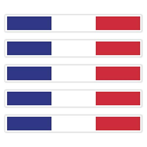 benobler 5 x Aufkleber Frankreich f. KFZ Auto Motorrad Boot Flagge Fahne France