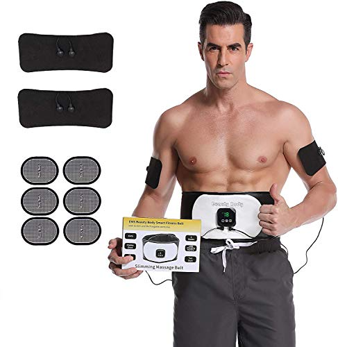 UMATE Abs Stimulator Abdominal Trainer Ultimate Waist Trimmer Ab Stimulator Men Women Work Out Ads Power Abs Training Gear Workout Equipment Portable Stimulator Abs Belt