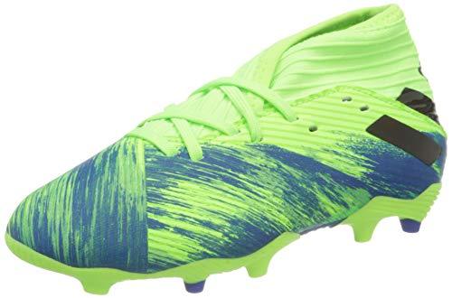 adidas Jungen Nemeziz 19.3 FG J Fussballschuh, Neongrün Blau, 28 EU