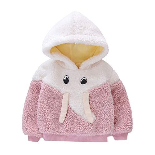 Sunnymi - Sudadera con capucha para bebé, resistente al viento, diseño de caricatura Rosa. 100 cm (3XL)