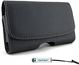 Horizontal Leather Case Pouch Holster for iPhone Xs Max/ 11 Pro Max/Xs Plus/ 6S 6 Plus/iPhone 7/8 Plus with Belt Clip and Belt Loops (Plus Size Will Fit Phone with Slim Skin or Cover on)