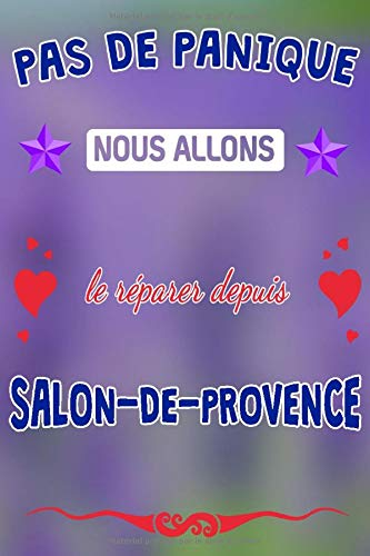 Pas de panique, nous allons le réparer depuis Salon-de-Provence: journal   agenda   carnet de notes avec page lignée