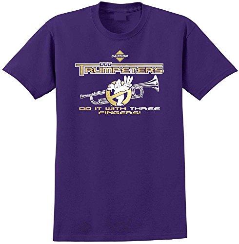 MusicaliTee Trumpet Do It Three Fingers - Purple Lila T Shirt Größe 81cm 32in Med 9-11 Jahr