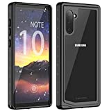 Lanwow Galaxy Note 10 Waterproof Case, Galaxy Note 10 Case with Screen Protector Support Wireless Charging Shockproof Dirtproof Waterproof Case for Samsung Galaxy Note 10(6.3 inches)- Black