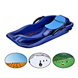 Yimeezuyu Snow Sled Kids Toboggan Downhill Pull Sled Sand Grass Skiing Snowboard Boat Sleigh for Unisex Kids Adults