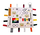 Wizard Lovey by Baby Jack Tag Toy Security Blanket | Educational Sensory Design | Perfect for The Muggle Babies or Wizard Parents, Great Baby Shower & Unisex Gift Item