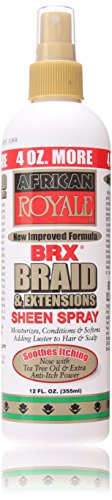 BB African Royale BRX Braid and Extensions Sheen Spray, 12 oz.