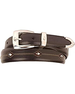 Brighton Denver Diamond Big Men's Western Flare Belt (Black 42)