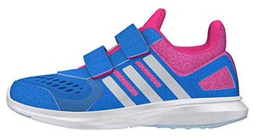 adidas Hyperfast 2.0 Cf K, Zapatillas de Deporte Interior para Niños, Azul (Azuimp / Plamat / Rosimp), EU 30