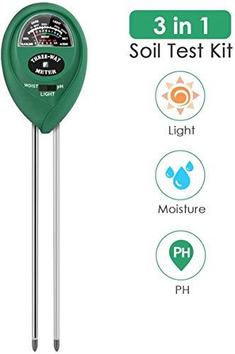 PentaBeauty Soil Test Kit, 3-in-1 Soil Tester with Moisture,Light and PH Test for Garden, Farm, Lawn, Indoor & Outdoor, Soil Moisture Meter, Soil Water Monitor