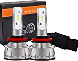 WISWIS H11 LED Headlight Bulbs, 6000K 16000 Lumens Extremely Super Bright H8 H9 Bulb COB LED Chips Conversion Kit, Xenon White for Volvo 2004-2015 VN VNL VNM Truck 200 300 430 630 670 730