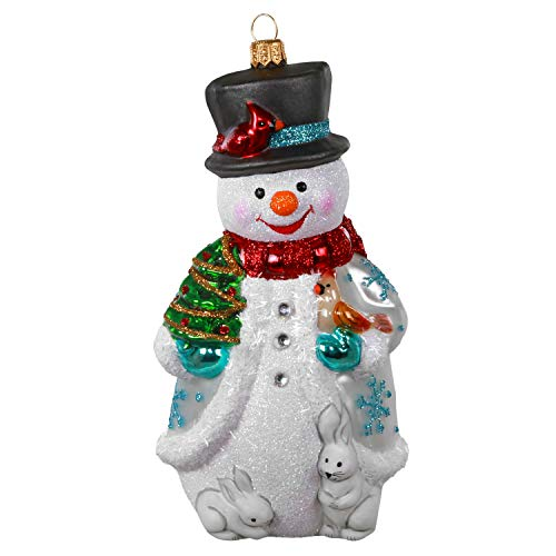 Hallmark Keepsake Christmas Ornament 2020, Jolly Snowman, Blown Glass