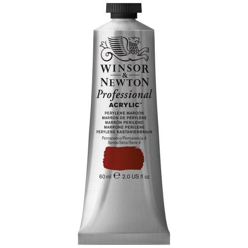 Winsor & Newton Professional Acrylic Color Paint, 60ml Tube, Perylene Maroon