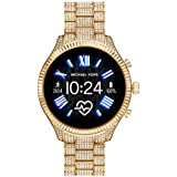 Michael Kors Access Women's Lexington 2 Touchscreen  Stainless Steel  Smartwatch, Gold Tone All Over Pave-MKT5082