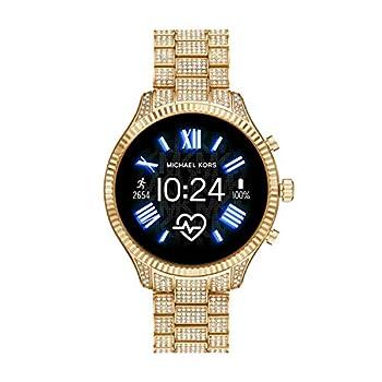 Michael Kors Access Women s Lexington 2 Touchscreen Stainless Steel Smartwatch Gold Tone All Over Pave-MKT5082