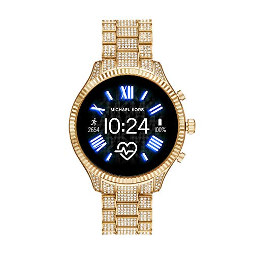 Michael Kors Access MKT5082 Smartwatch Michael Kors Dama, Extensible Acero Color Dorado, Caja Color Dorado, Multifuncion for Accesorios, Oro, Mujer Estándar