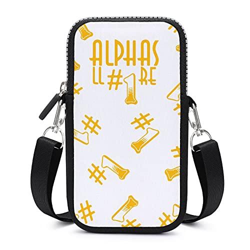 Bolso bandolera con correa de hombro extraíble Alphas bolsa impermeable para el brazalete del teléfono cartera Running Bolsas hombres