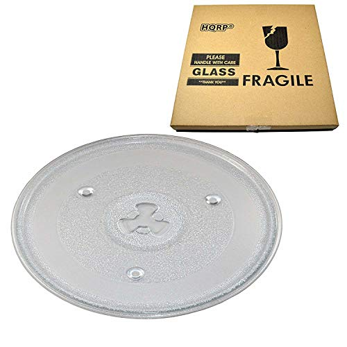 "HQRP 10-1/2 inch Glass Turntable Tray compatible with Hamilton Beach 252100500497 HB-P90D23 HB-P90D23A HBP90D23 HB-P90D23AL-DJ Microwave Oven Cooking Plate 270mm 10.5"" 10,5"" Emerson Sunbeam Magic Chef"