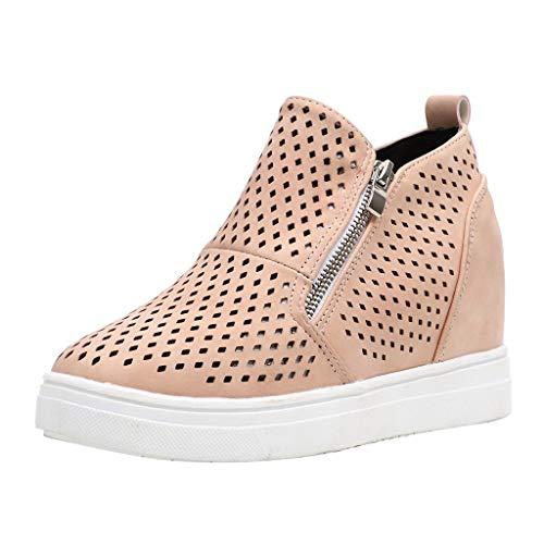 Fannyfuny Zapatos para Correr Casuales Zapatillas Deporte Zapatillas Deportivas Gimnasio Running Transpirable Aumentar Altos Sneakers Transpirables Fitness Comodos Zapatillas