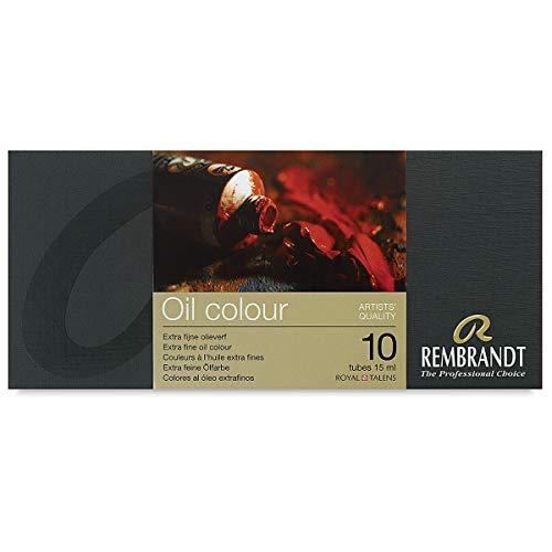 Rembrandt Artists' Oils - Basic Set, Assorted, Set of 10, 15 ml tubes