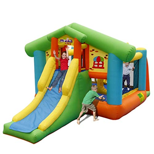 WRJY Kid Baby Toys Children's Inflatable Paradise Playground Equipment Small Naughty Castle, Children's Paradise Inflatable Castle for Indoor and Outdoor