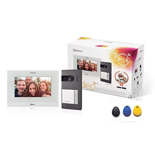 """Golmar Videoportero Kit 1 Línea S5110/ART 7W con Monitor e Wi-Fi Integrado, 7"""", Gris"""