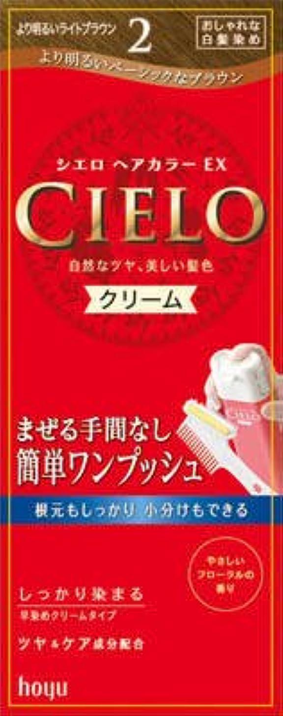 進化するケーキエンドテーブルシエロ ヘアカラー EX クリーム 2 より明るいライトブラウン × 3個セット