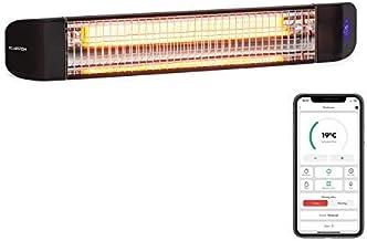 Klarstein Smartwave - Infrarotheizung Terrassenheizstrahler, IR ComfortHeat, Carbonfaserröhre mit 2400 W, Thermostat, Multicommand: WiFi-Appsteuerung für bis zu 7 Geräte, schwarz