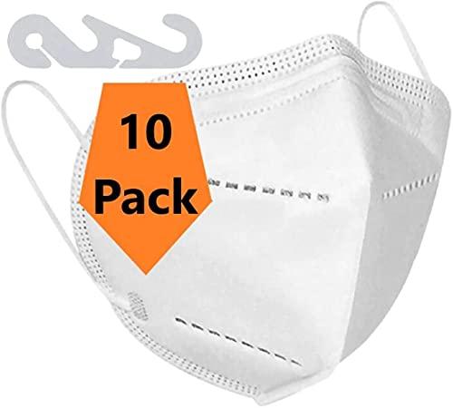 【30 Stück 】TOP Maske ohne Ventil für Brillenträger geeignet mit Nasenbügel Bedeckung für Mund Nase Gesichts Bedeckung für Brillenträger Antibeschlag Leicht Atmung Air Bedeckung