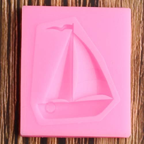 SUNIY Molde de Silicona de velero 3D Cupcake Topper DIY Herramientas de decoración de Pasteles para Hornear Fondant Chocolate Caramelo Arcilla polimérica