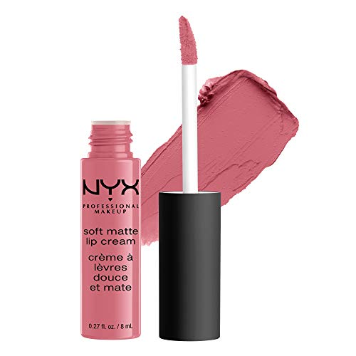 NYX PROFESSIONAL MAKEUP Soft Matte Lip Cream, High-Pigmented Cream Lipstick - Istanbul, Clean Pink