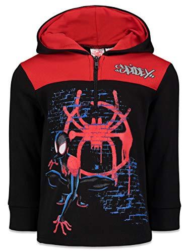 Marvel Spiderverse Big Boys Half-Zip Pullover Fleece Hoodie Miles Morales 14