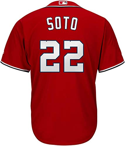 Juan Soto Washington Nationals Youth 8-20 Red Alternate Cool Base Player Jersey (X-Large 18/20)